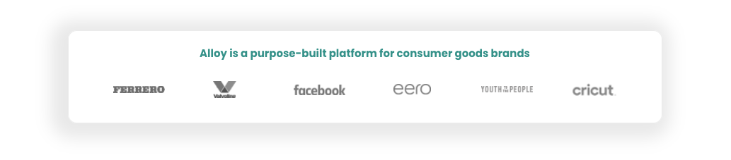 Alloy is a purpose-built platform for consumer goods brands